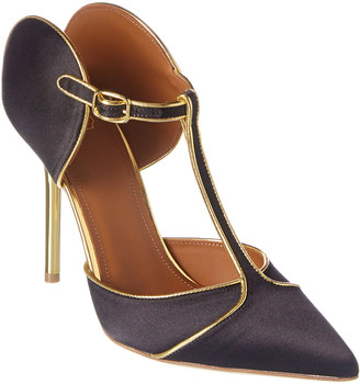 Malone Souliers Imogen 100 Satin & Leather Pump