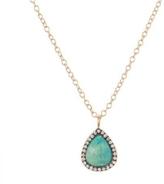 Marcia Moran Gunmetal Turquoise Necklace