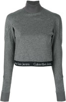 CK Calvin Klein cropped turtleneck jumper