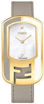 Fendi F336434561D1-Chameleon Flamingo Leather Strap Watch