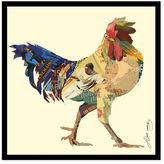 Alex Rooster Collage Framed Wall Art by Zeng