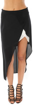 Mason by Michelle Mason Skirt With Contrast Slip