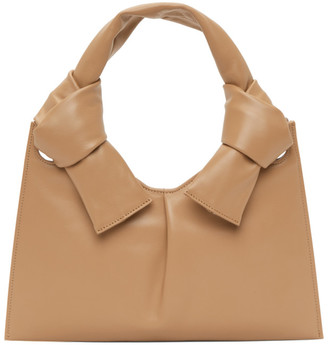 Little Liffner Tan Knot Evening Bag