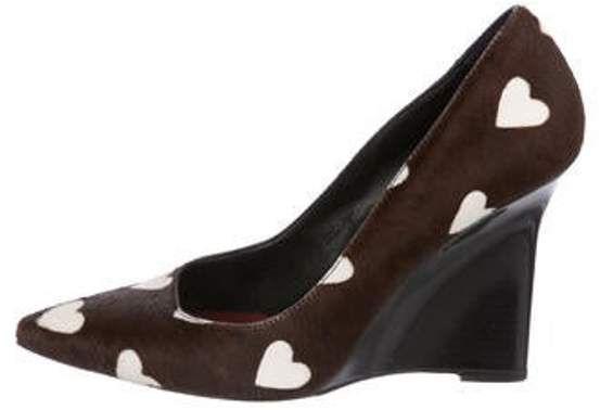 Burberry Ponyhair Pointed-Toe Wedges Brown Ponyhair Pointed-Toe Wedges