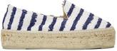Manebi White Striped Paris Espadrilles