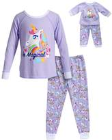 "Dollie & Me Girls 4-14 Be Magical"" Unicorn Top & Bottoms Pajama Set"
