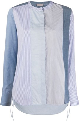 Mrz striped mandarin collar shirt