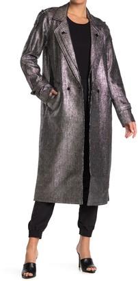 Rta Denim Andi Metallic Trench Coat