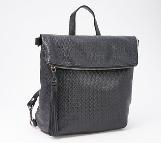 Patricia Nash Leather Embossed Woven Backpack - Luzille