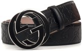Gucci Men's 411924cwc1n1000 Black Leather Belt