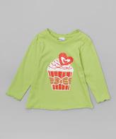 Flap Happy Green Cupcake Carol Tee - Infant, Toddler & Girls