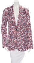 Michael Kors Printed Silk Jacket