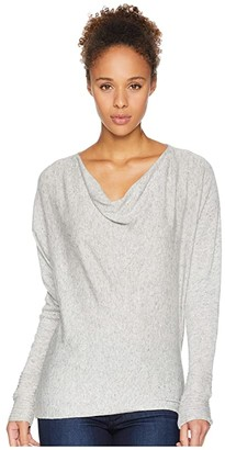 Royal Robbins Highlands Cowl (Sand Dollar Heather) Women's Long Sleeve Pullover