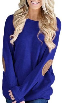 Sanfashion Bekleidung SANFASHION Women's Ladies Clearance Casual Jumper Sweater Sweatshirt Hoodies Shirt Tops Pullover Knitwear