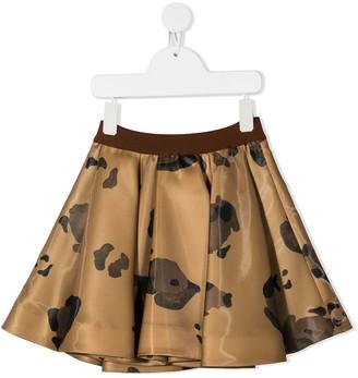 Mi Mi Sol Floral-Print A-Line Skirt