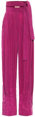MATÉRIEL High-rise satin pants