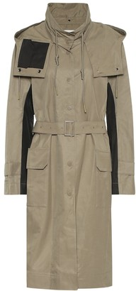 Low Classic Hooded cotton-blend trench coat