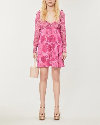 Rixo Fara floral-print silk-blend mini dress
