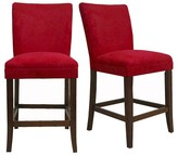 "Homelegance Napa 24"" Counter Stools Hardwood/Red (Set of 2)"