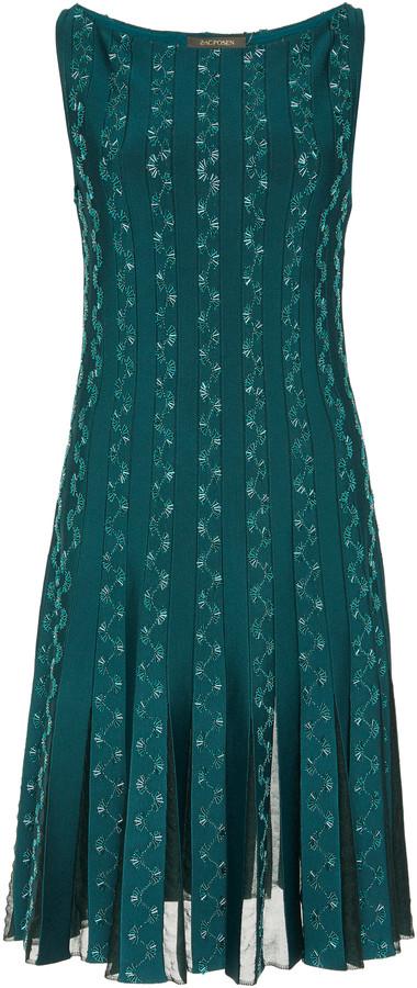 Zac Posen Embroidered Lace-Panelled Mini Dress