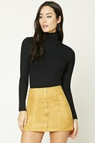 Forever 21 FOREVER 21+ Faux Suede Mini Skirt