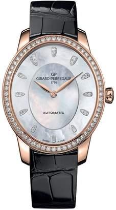 Girard Perregaux Rose Gold Diamond Cat's Eye Majestic Watch 34.7mm
