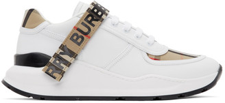 Burberry White and Beige Ronnie M Sneakers