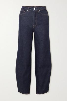 Totême High-rise Tapered Jeans - Dark denim