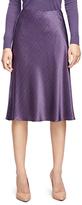 Brooks Brothers Petite Silk Herringbone Flared Skirt