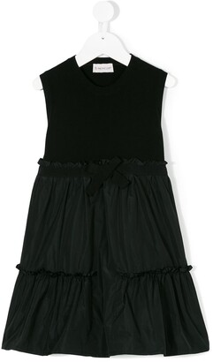 Moncler Enfant Ruffle Bow Dress