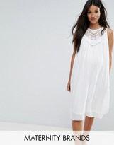 Mama Licious Mama.licious Mamalicous Sleeveless Lace Insert Woven Dress