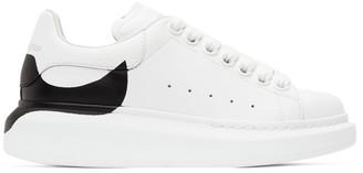 Alexander McQueen White Dropped Heel Counter Oversized Sneakers