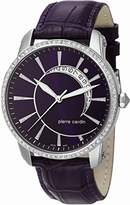 Pierre Cardin Labyrinthe Women's Quartz Watch with Purple Dial Analogue Display and Purple Leather Strap PC105692S07