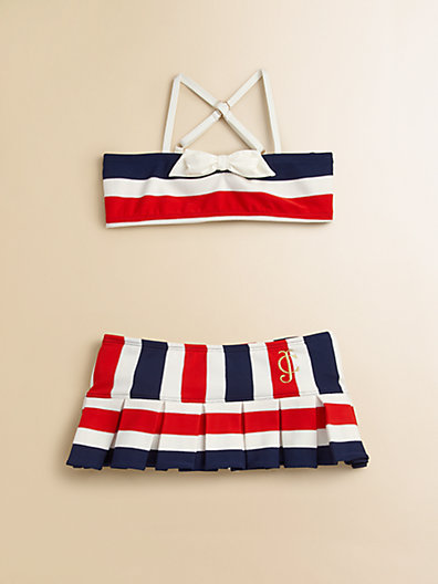 Juicy Couture Toddler's & Little Girl's Port Stripe Two-Piece Swimsuit