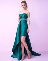 Mac Duggal Homecoming - 66251N Sweetheart Overskirt Mini Dress