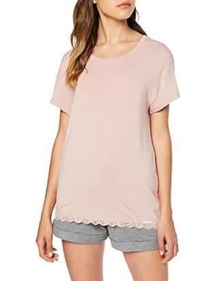 Skiny Women's Eternity Sleep Shirt Kurzarm Pyjama Top,(Size: 44)