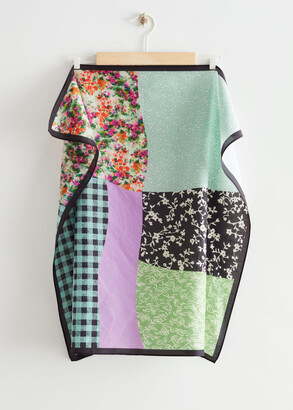 And other stories Patchwork Cotton Silk Blend Scarf