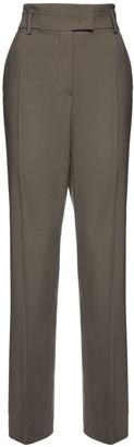Sportmax High Waist Gabardine Straight Pants
