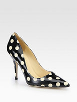 Kate Spade New York Licorice Polka Dot Patent Leather Pumps