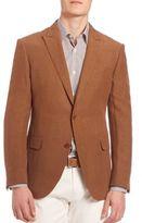 Pal Zileri Silk Blend Two-Button Coat