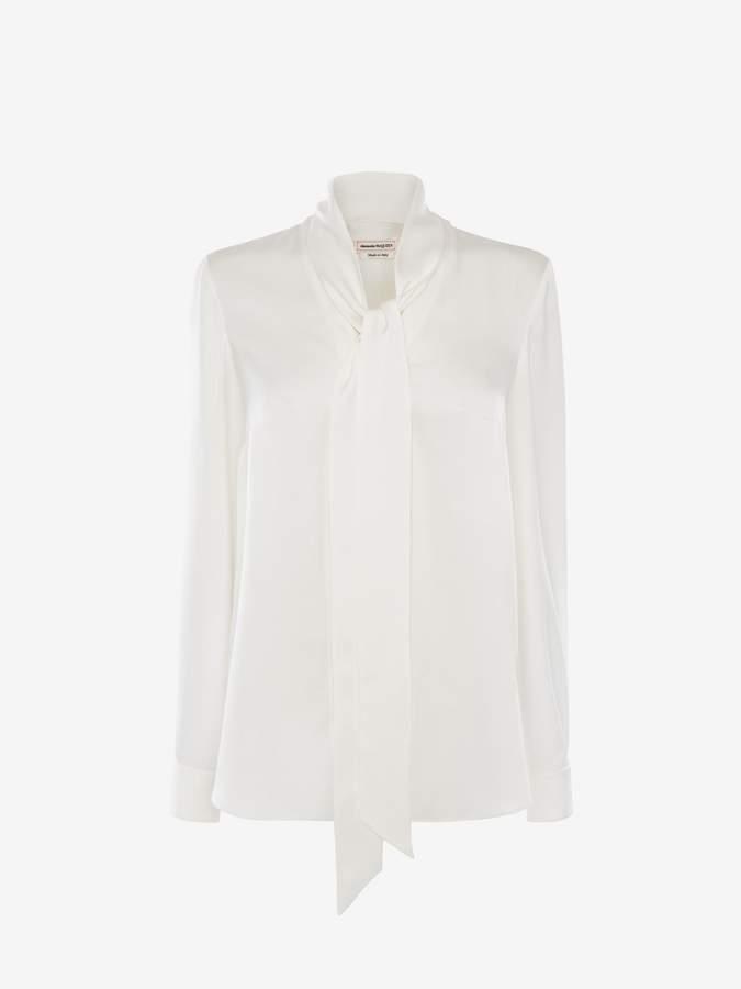 Alexander McQueen Satin Bow Shirt
