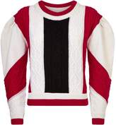 Claudie Pierlot Cable Knit Sweater, Red, 3