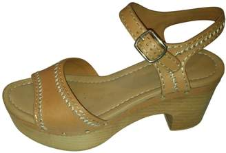 Sandro Beige Leather Sandals
