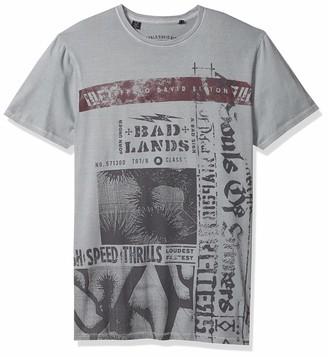 Buffalo David Bitton Men's Short Sleeve Crew Neck Vintage wash t-Shirt