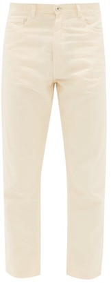 YMC Cropped Cotton-blend Slim-leg Jeans - Mens - Beige