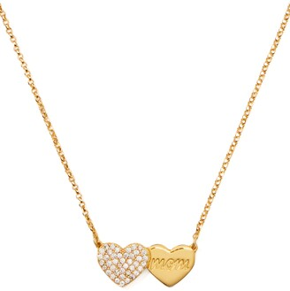 Kate Spade Pave Heart Mom Pendant Necklace