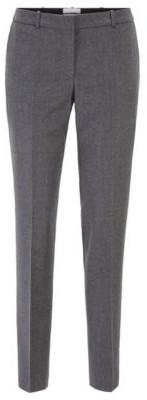HUGO BOSS Regular-fit cropped trousers in traceable melange virgin wool