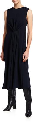 Victoria Beckham Sleeveless Gathered Midi Dress