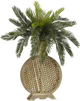 Asstd National Brand Nearly Natural Cycas Silk Plant with Decorative Vase