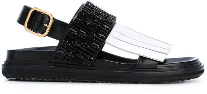 Marni embellished fringed Fussbett sandals cheap explore C3KESBd